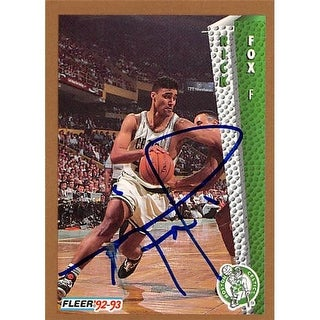 Boston Celtics Ft 1992 Fleer No. 14 Rick Fox ed Basketball Card