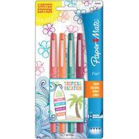 Paper Mate Flair Medium Felt Tip Pens 4/Pkg-Tropical Vacation