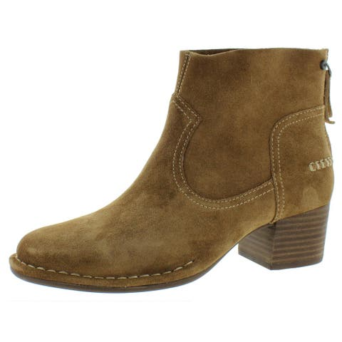 Ugg Womens Bandara Ankle Boots Suede Block Heel