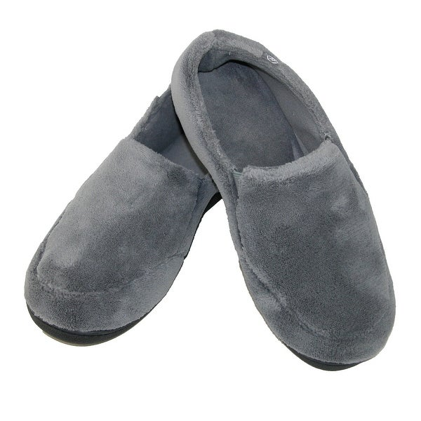 Isotoner Men's Microterry Memory Foam Indoor/Outdoor Slip-On Slippers