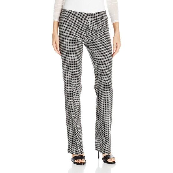 Nine West NEW Black Ivory White Women's Size 4 Checked Dress Pants
