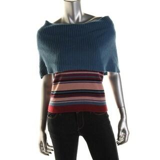 Catherine Malandrino Womens Cashmere Striped Pullover Sweater - p
