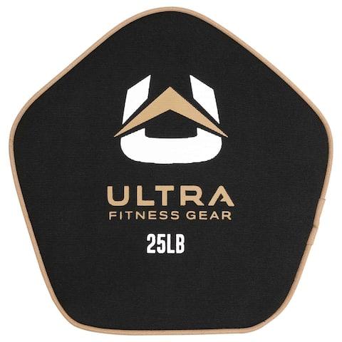 Ultra Fitness Gear Super Tough Fillable Neoprene Pancake Sandbag for Full Body Workouts (Unfilled), 25lbs.
