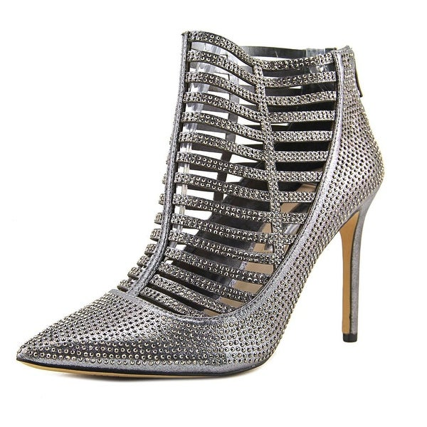 INC International Concepts Kacela2 Women Pointed Toe Synthetic Silver Bootie