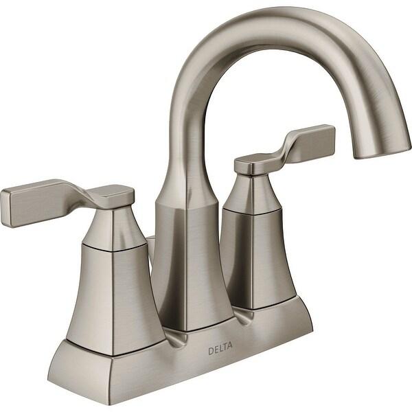 Shop delta 25766lf sp sawyer 2 handle centerset bathroom - Delta bathroom faucets brushed nickel ...