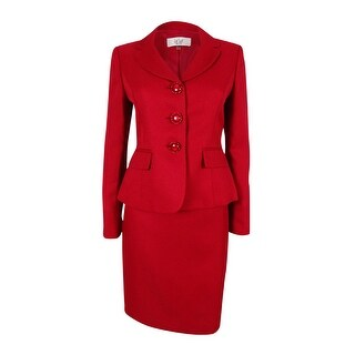 Le Suit Women's Prague Textured Skirt Suit