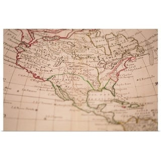 """Antique map of North America"" Poster Print"
