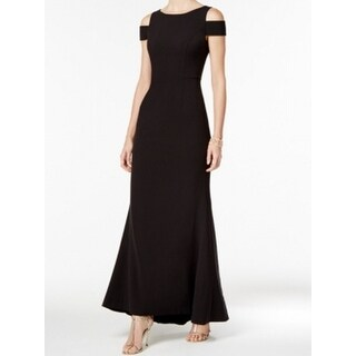 Vince Camuto NEW Black Womens Size 14 Cold-Shoulder Flare Maxi Dress