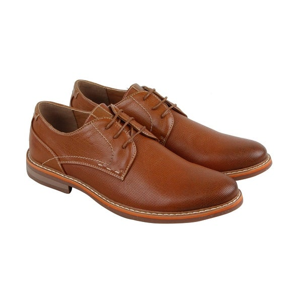 Steve Madden P-Potent Mens Tan Leather Casual Dress Lace Up Oxfords Shoes