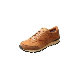 Twisted X Western Shoes Mens Red Buckle Athleisure Lace Up Tan MWA0002