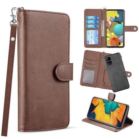Leather Flip Cover Secure Magnetic Wallet Case for Samsung Galaxy A51