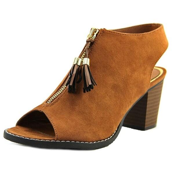 Madeline Girl Ethernal Women Open-Toe Suede Slingback Heel