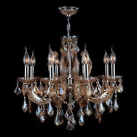 Worldwide Lighting W83121C20 Catherine 6-Light 1 Tier Candle Style Crystal Accent Chandelier