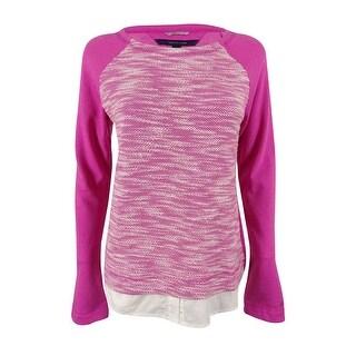 Tommy Hilfiger Women's Layered-Hem Sweater