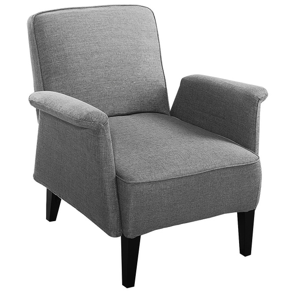 . Shop Costway Modern Upholstered Accent Occasional Chair Roll Arm