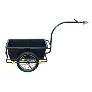 vidaXL Bike Trailer with Plastic Cart 23 Gal