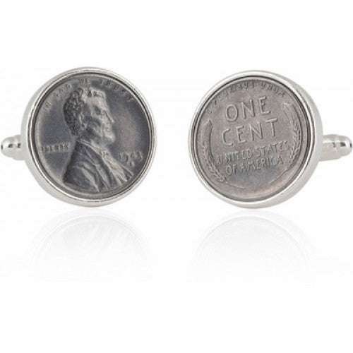 Steel Penny Coin Coin Collector Cufflinks