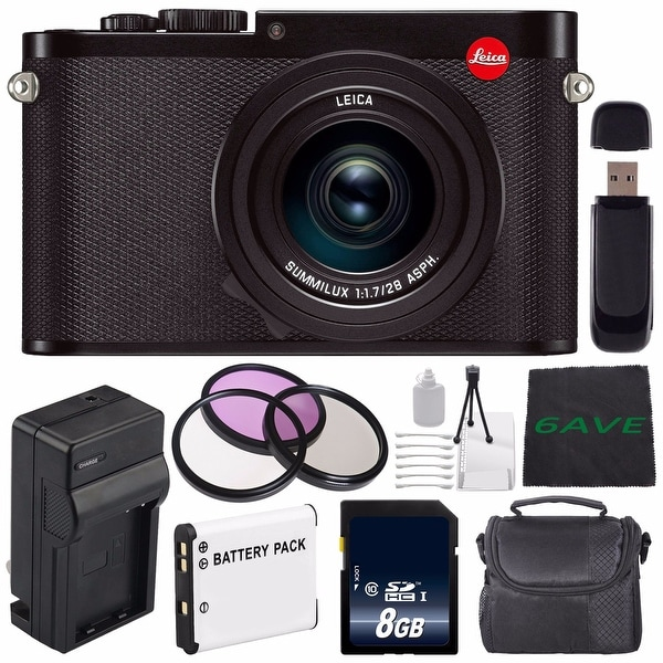 Leica Q (Typ 116) Digital Camera + Replacement Lithium Ion Battery + External Rapid Charger + 8GB SDHC Memory Card Bundle
