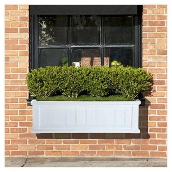 Shop Mayne 4840 W Cape Cod Window Box 3ft White Free Shipping