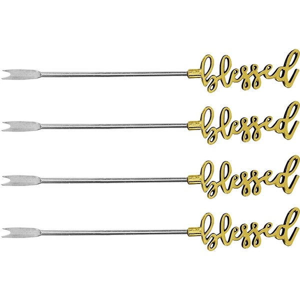 Palais Essentials Stainless Steel Cocktail Picks - Reusable Wedding Martini Picks - Set of 4-5.25 Inches Long. Opens flyout.