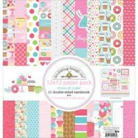 """Cream & Sugar - Doodlebug Double-Sided Paper Pack 12""""X12"""""""