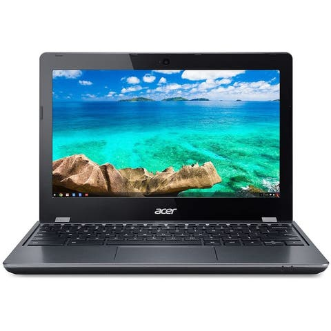 Acer Chromebook C740-C4PE 11.6-in Refurb Laptop - Intel Celeron 1.70 GHz 4GB 16GB SSD Chrome OS - Bluetooth, Webcam, Grade B