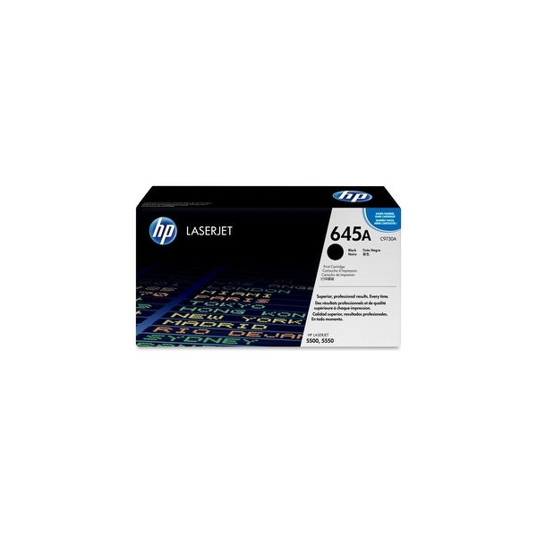 HP 645A Black Original LaserJet Toner Cartridge (C9730A)(Single Pack)