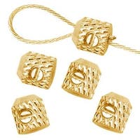 Beadalon Gold Plated Scrimps Super Secure Screw-On Crimp Beads (12)