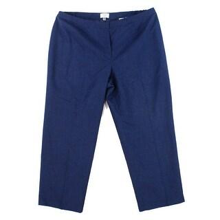 Le Suit Navy Blue Womens Size 18W Plus Flat Front Dress Pants