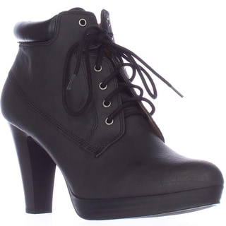 AL35 Garnet Lace Up Ankle Boots - Black/Black