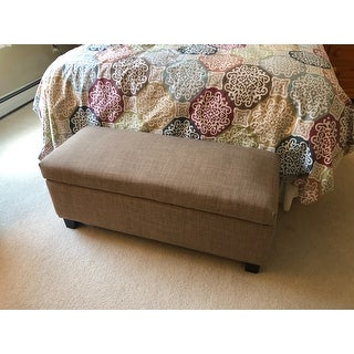 Sauganash Grey Linen Lift Top Storage Bench by iNSPIRE Q Bold