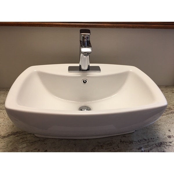 Shop Fine Fixtures White Vitreous China Modern Vessel Sink   Free Shipping  Today   Overstock.com   9723464