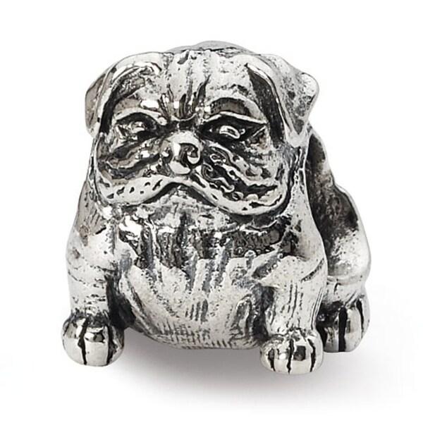 Sterling Silver Reflections Bulldog Bead (4mm Diameter Hole)