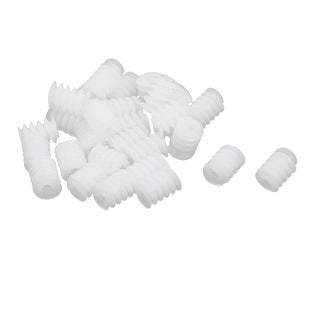 30PCS 6mm Thread Dia 8mm length Plastic Worm Gear for Toy Motor Reduction Box