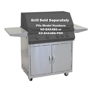 KoKoMo Grills 4 Burner BBQ Grill Cart