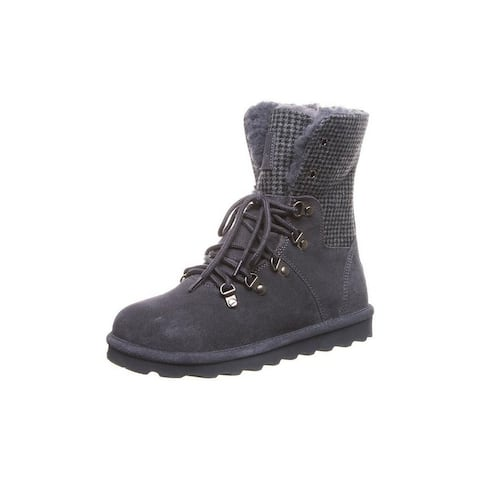 """Bearpaw Casual Boots Womens Maria 8"""" Shaft Lace Up Cow Suede"""