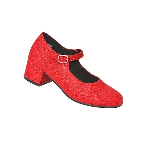 Rachel Shoes Little Girls Red Sparkle Heeled Mary Jane Dress Shoes