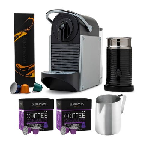 Nespresso Pixie Original Espresso Machine with Aeroccino Bundle