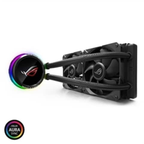 ASUS Fan ROG RYUO 240 AIO liquid CPU cooler color OLED Aura Sync RGB 120mm Fan Retail - Pictured
