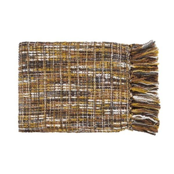 """50"""" x 60"""" Golden Sunset Charcoal and Gold Throw Blanket"""