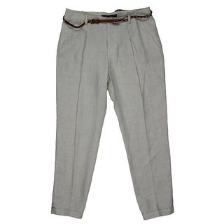 Zara Basic Womens Linen Trousers Ankle Pants - 6