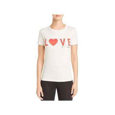 Spiritual Gangster Womens T-Shirt Love Shrunken - Ivory