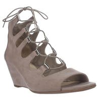 B35 Kerry Lace Up Gladiator Wedge Sandals, Portico