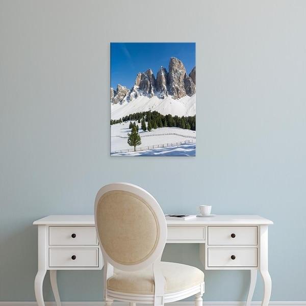 Easy Art Prints Martin Zwick's 'The Peaks Of The Geisler Mountain Range' Premium Canvas Art