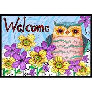 Carolines Treasures PJC1095MAT Welcome Owl Indoor & Outdoor Mat 18 x 27 in.