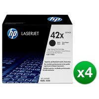 HP 42X High Yield Black Original LaserJet Toner Cartridges (Q5942X)(4-Pack)