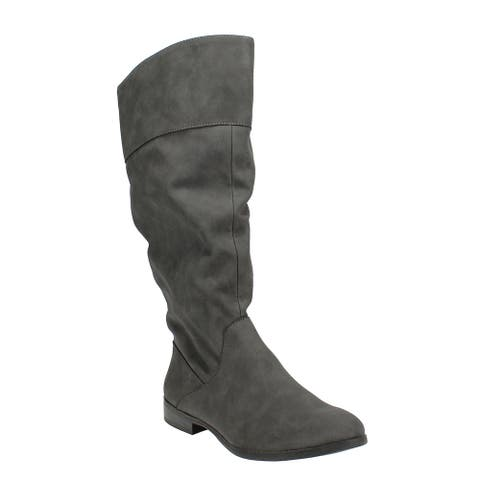Style & Co Kelimae Scrunched Boots Grey
