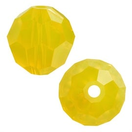 Swarovski Crystal, 5000 Round Beads 6mm, 10 Pieces, Yellow Opal