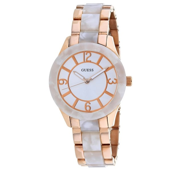 1aa325bc698d Shop Guess Women s Classic U0074L2 White Dial watch - Free Shipping Today -  Overstock - 24225506