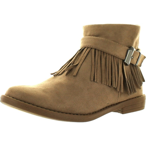Bella Marie Marcy-51 Women's Comfort Fringe Side Zipper Dress Ankle Bootie